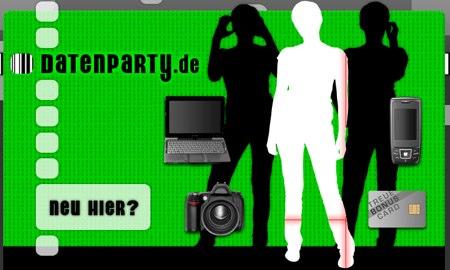 Startseite von datenparty.de