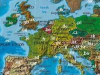 Internet-Landkarte (Ausschnitt)