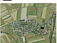 Luftbild mit markierten Wohnhäusern von Schülerinnen und Schülern